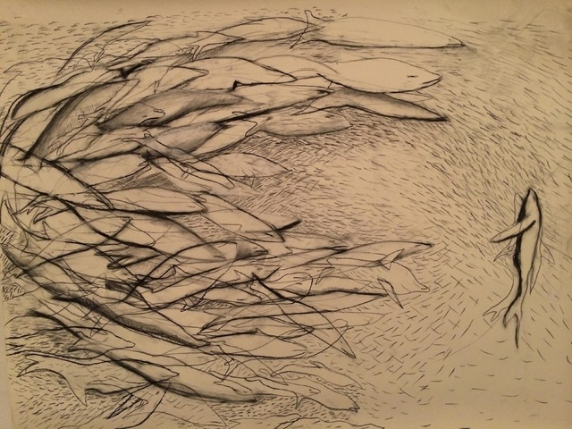 , 'Fish Lines,' 2015, RoodGallery