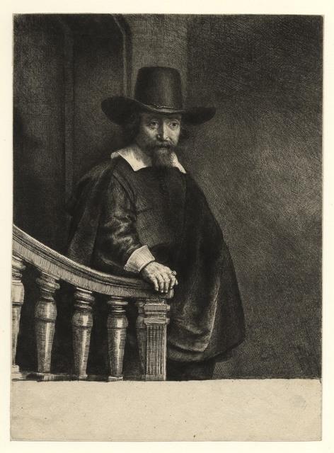 Rembrandt van Rijn, 'Ephraim Bonus, Jewish physician 1647', 1647, Harris Schrank Fine Prints