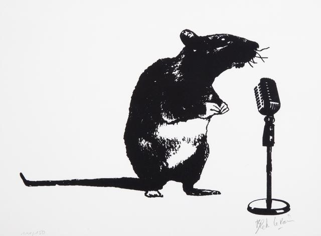 Blek le Rat, 'Crooner Rat', 2016, Julien's Auctions