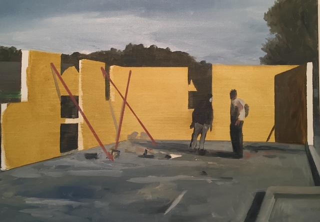 , 'Chantier - Mur jaune,' 2019, La Forest Divonne