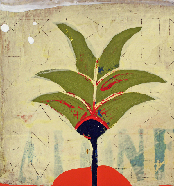 John Randall Nelson, 'Palma Verde', 2020, Painting, Mixed media on panel, Sue Greenwood Fine Art