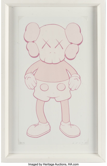 KAWS, 'Companion (Pink)', 2001, Print, Screenprint in colors on wove paper, Heritage Auctions