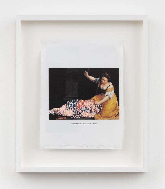 Betty Tompkins, 'Apologia (Artemisia Gentileschi #3)', 2018, P.P.O.W