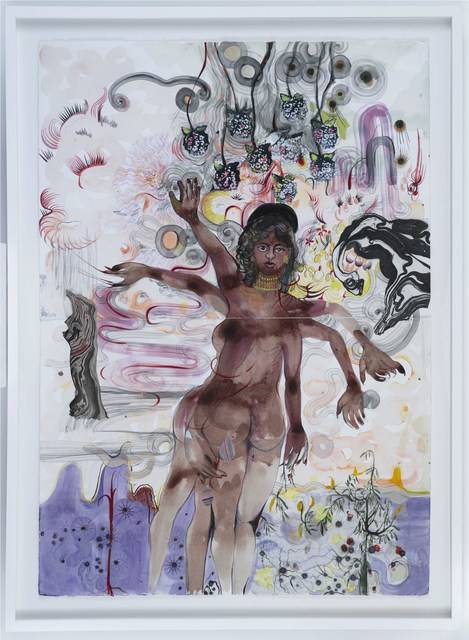 Rina Banerjee, 'Under heavy mistletoe, Welcome me with Witches and widows who prepare me, take me away in flight fold my legs thrice wake me without kiss from dream with grin, giggle and tender laughter.', 2018, Galerie Nathalie Obadia