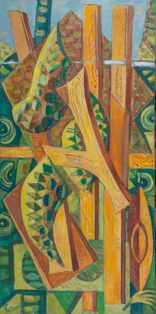 Louis Latapie, 'L'échelle de Jacob', 1958, Painting, Oil on canvas, Leclere