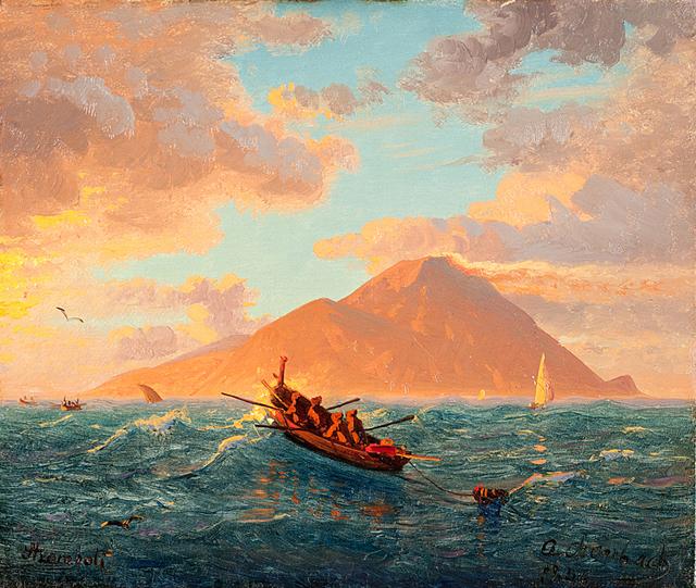 Andreas Achenbach, 'Stromboli', 1844, Painting, Oil on canvas, Museum Kunstpalast
