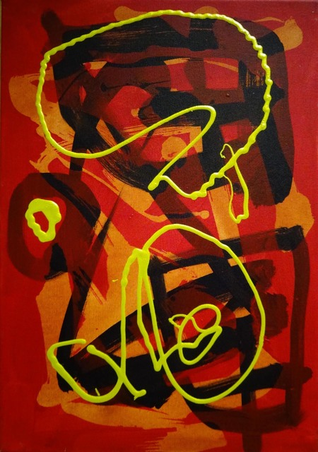 Maurice Cockrill, 'Yellow Linear Forms on a Red Background ', Waterhouse & Dodd