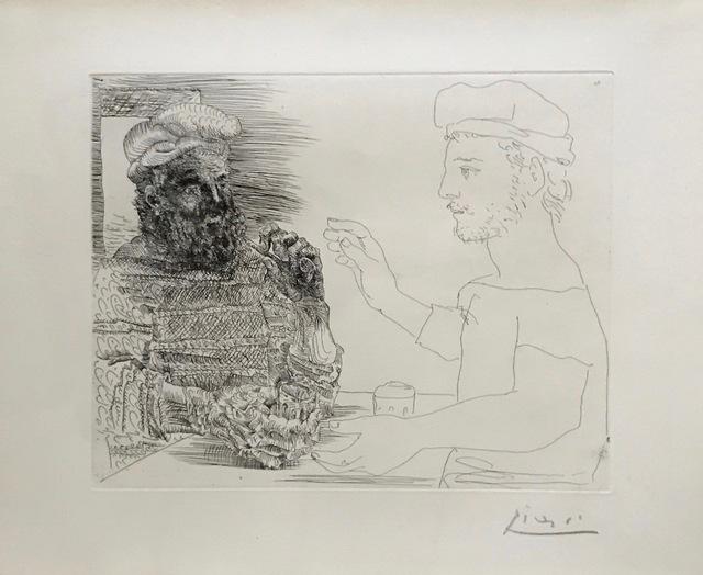 Pablo Picasso, 'Deux Buveurs Catalans', Alan Kluckow Fine Art
