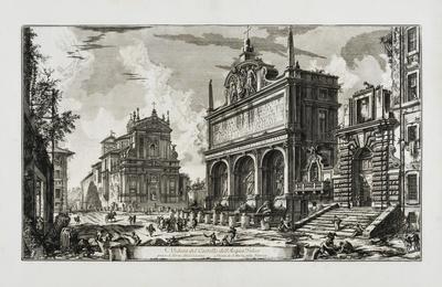 Veduta del Castello dell'Acqua Felice, from: Vedute di Roma