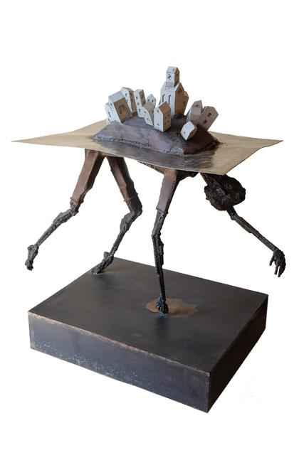 Pedro Luis Cuellar, 'La isla / The island', 2019, Sculpture, Metal and concrete, ArteMorfosis - Cuban Art Platform