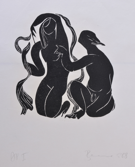 Berenice Sydney, 'Psyche and Eros', 1968, Print, Linoprint with ink, Saatchi Gallery