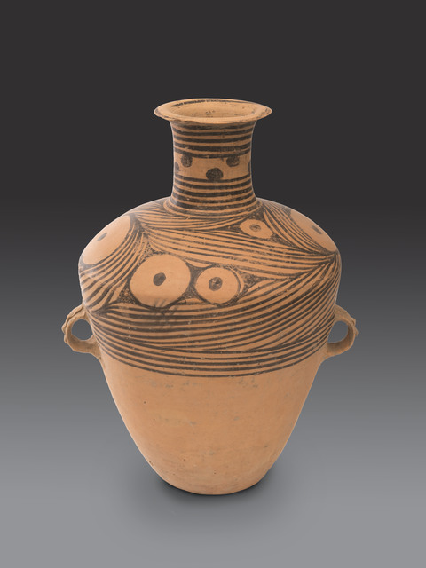 , 'Large vase with painted wave design,' Neolithic, Art Museum of the Chinese University of Hong Kong