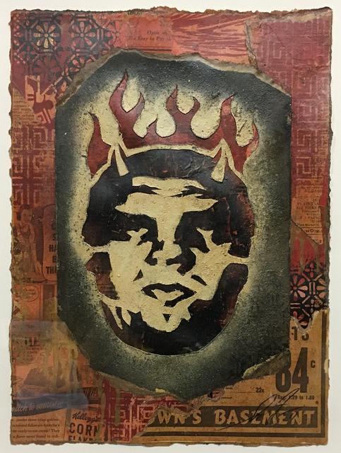 Shepard Fairey, 'Andre Devil Flame Head', 2011, Black Book Gallery