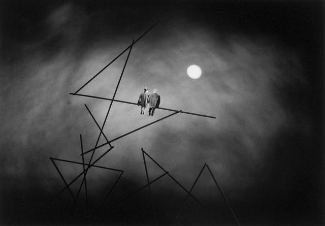 Gilbert Garcin, 'Nocturne (D'après Paul Klee) - Nocturne (after Paul Klee)', 2004, Photography, Gelatin silver print, Stephen Bulger Gallery