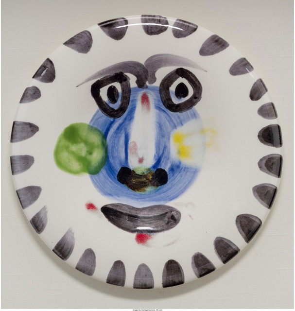 Pablo Picasso, 'Visage no. 202', 1963, Other, Painted and glazed ceramic, Heritage Auctions
