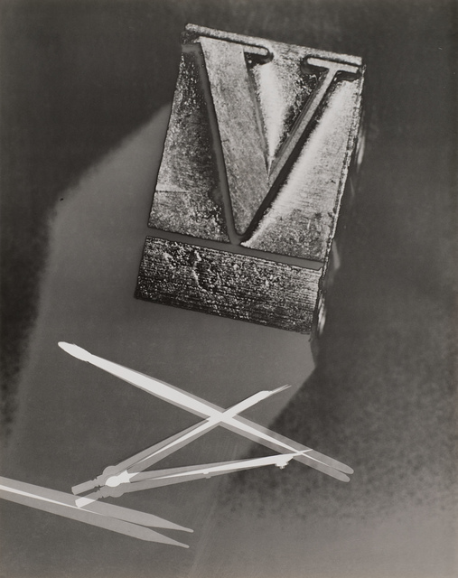 , 'Untitled (Compass and Letterpress Type),' 1938-1938, Robert Koch Gallery