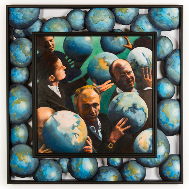 , 'N.G. Nazianzen- Men with the World in Their Hands II,' 2013, the harts gallery