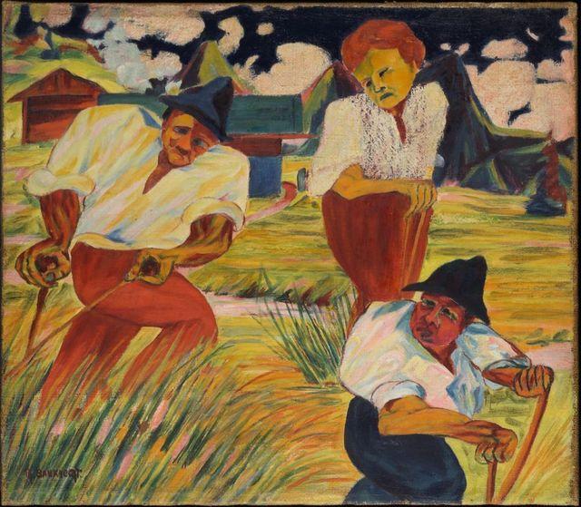 , 'Drei Bauern auf dem Feld (Three farmers on a field),' 1924, Galerie Thomas