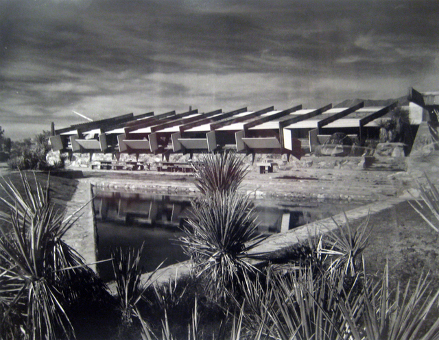 Pedro E. Guerrero, 'Stormy Sky over Drafting Room Taliesin West, Fountain Hills, Arizona (Frank Lloyd Wright, Architect)', 1940, Edward Cella Art and Architecture