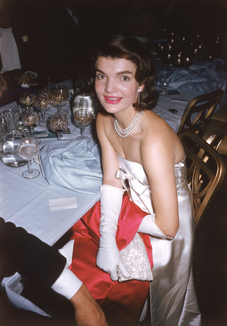 ", 'Jacqueline Kennedy at the ""April in Paris"" Ball,' ca. 1959, Staley-Wise Gallery"