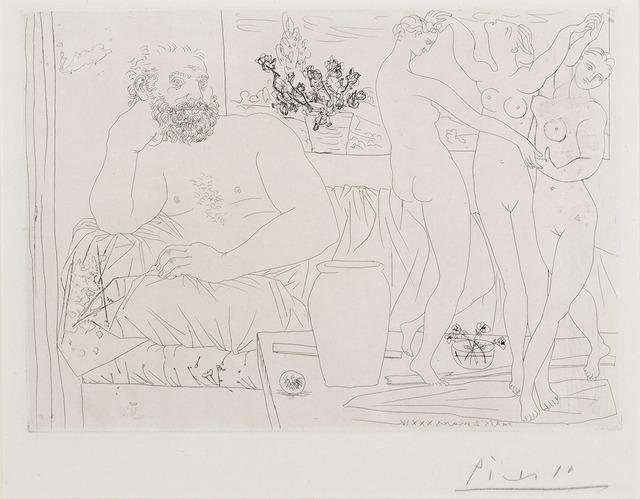 Pablo Picasso, 'Sculpteur Et Trois Danseuses Sculptées (B. 217)', 1934, Doyle