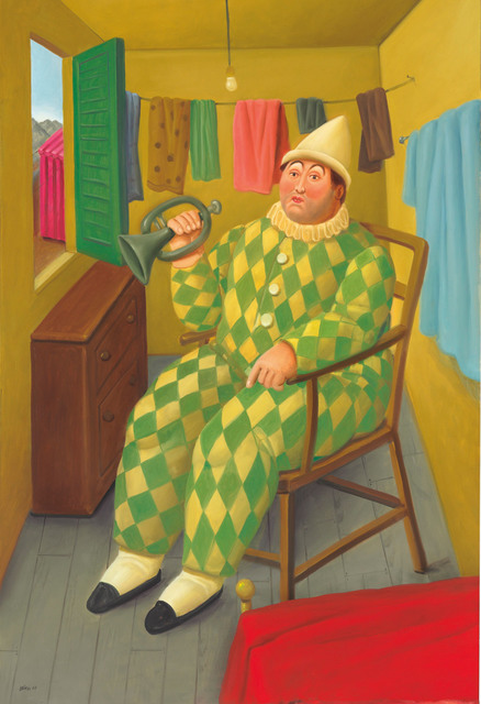 , 'Clown in his trailer,' 2007, Fernando Pradilla/El Museo