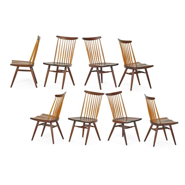 George Nakashima, 'Eight New Chairs, New Hope, PA', 1962/64/76, Rago/Wright