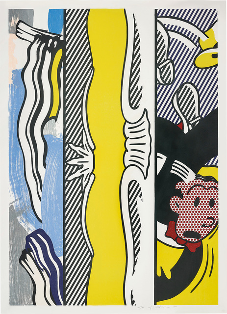 Roy Lichtenstein, 'Two Paintings: Dagwood, from Paintings Series', 1984, Print, Woodcut and lithograph in colours, on Arches 88 paper, with full margins., Phillips