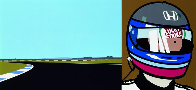 Julian Opie, 'Imagine you are driving (fast)/Rio/helmet', 2002, Alan Cristea Gallery
