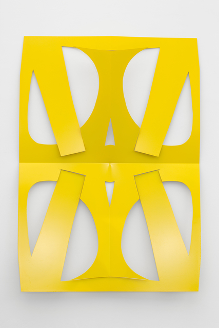, 'C.Ar.D. Cutout (Large Traffic Yellow),' 2016, Altman Siegel