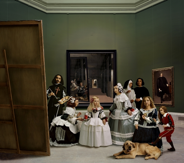 ", '"" Las Meninas renacen de noche V (Drawn by a distant light, awaken to the darkness)"",' 2013, Galería Juana de Aizpuru"