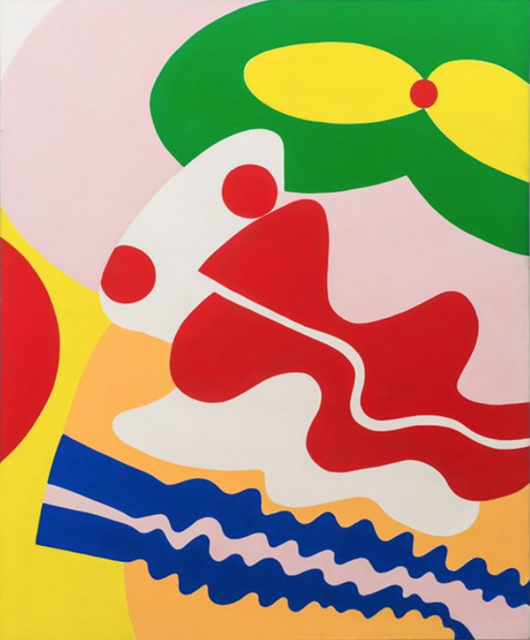 Knox Martin, 'Pandora (Green Mouth, Red Nose)', 1972, Painting, Acrylic on linen, Hollis Taggart
