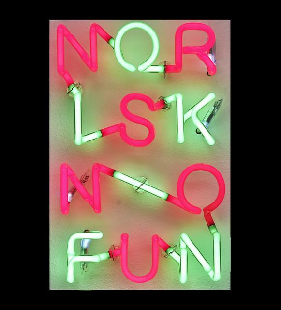 , 'NORISKNOFUN,' 2014, Walter Storms Galerie