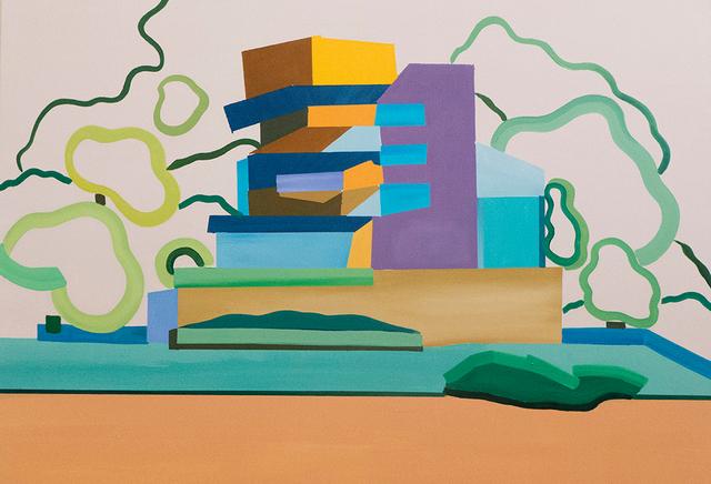 Vasilena Gankovska, 'Composition for tower and trees', 2018, Galerie Ernst Hilger