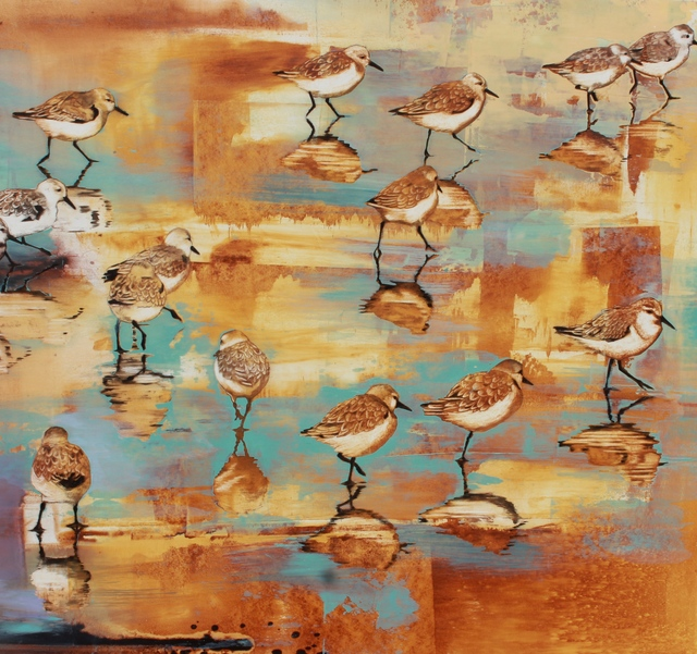 , 'Sunset Plovers,' 2016, Seager Gray Gallery
