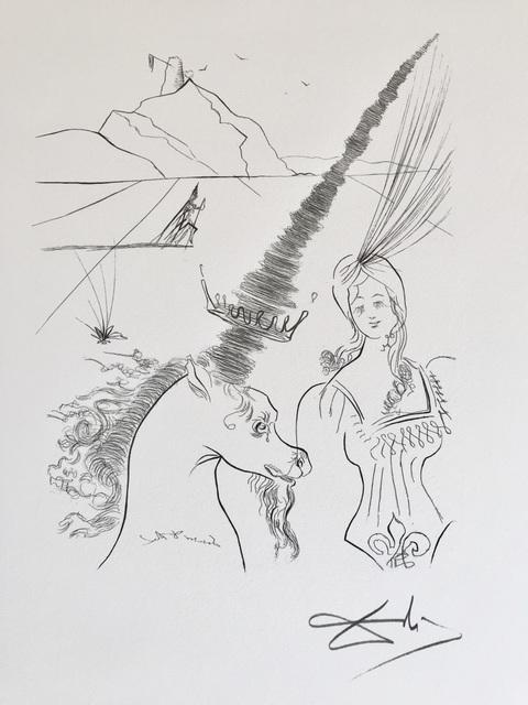 Salvador Dalí, 'La Licorne', 1987, ByNewArt