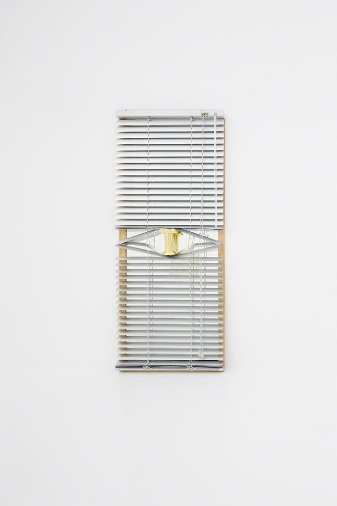Ligia Dias, ETTORE 2017  Mirror, aluminium, steel, gold leaf, plaster  40 x 97 cm