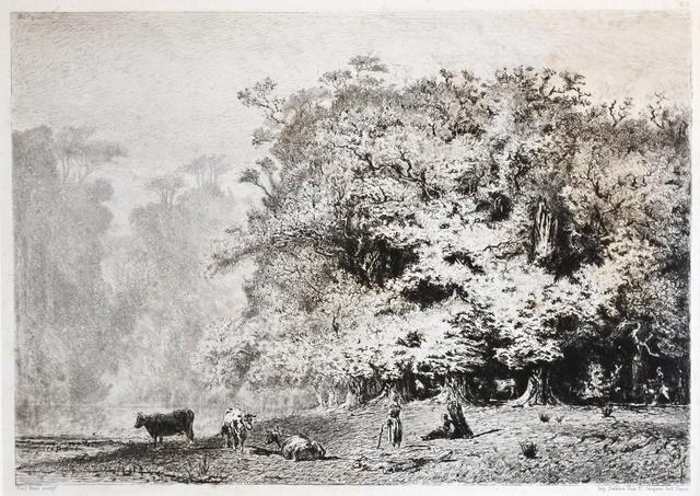 , 'Près de Fontainebleau,' 1863, Hans den Hollander Prints