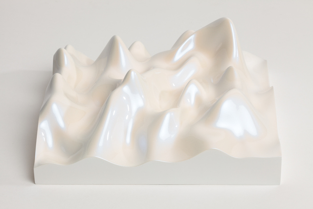 Peter Saville, 'Unknown Pleasure, Irodin 219, Rutile lilac pearl on white background', 2015, Paul Stolper Gallery
