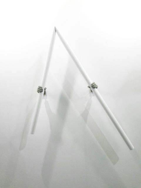 , 'geknicktes rohr,' 2017, Christine König Galerie