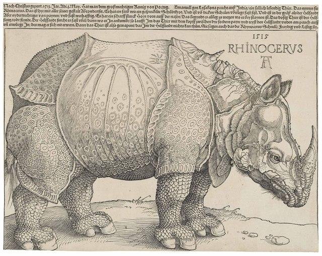 Albrecht Dürer, 'The Rhinoceros (B. 136; M., Holl. 241; S.M.S. 241),' 1515, Christie's Old Masters