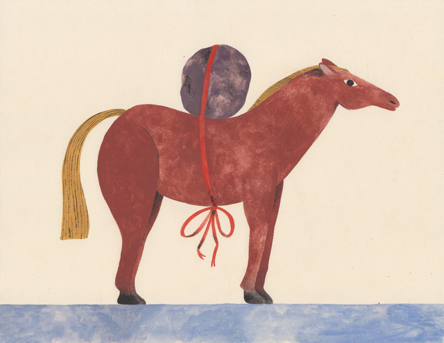 , 'Horse with Rock,' 2017, HARPY