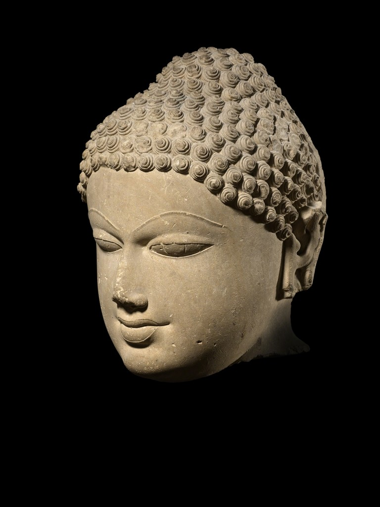 Jina Stone Head - Uttar Pradesh, North India