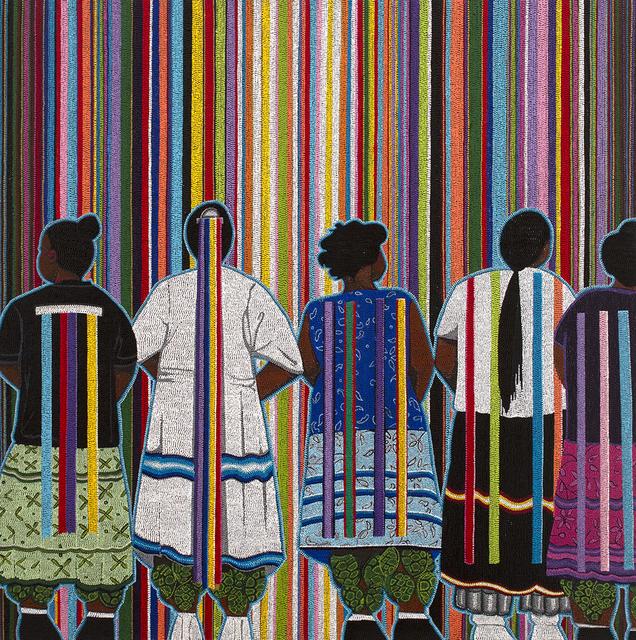 , 'Mvskoke Ribbons,' 2019, Blue Rain Gallery