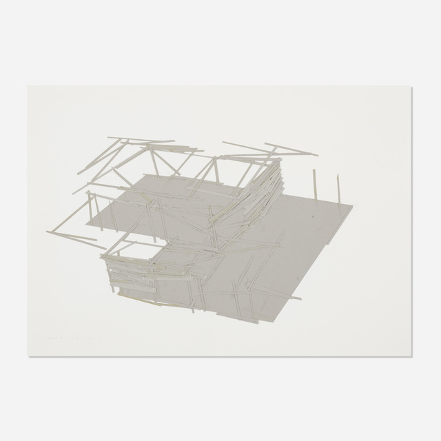 Tadashi Kawamata, 'Site Plan 14', 1991, Drawing, Collage or other Work on Paper, Collage on paper, Rago/Wright