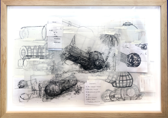 , 'Tropical Space Hostel Blueprints project,' 2019, MAIA Contemporary