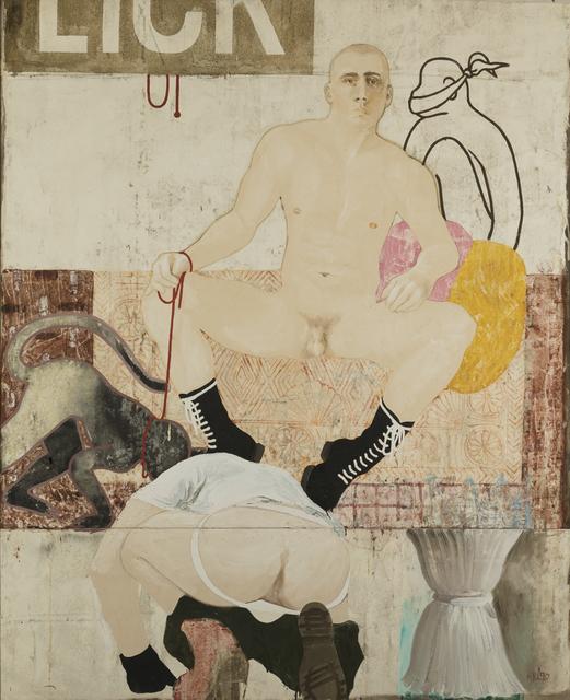 Attila Richard Lukacs, 'Licky', 1990, Painting, Oil on canvas, Childs Gallery