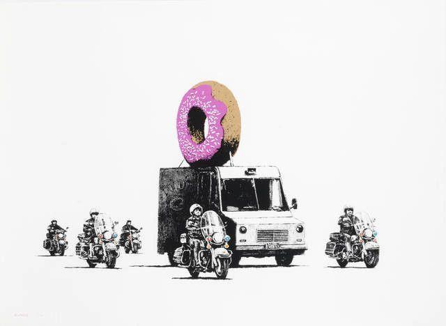 Banksy, 'Strawberry Donuts', 2009, Contemporary Art Trader