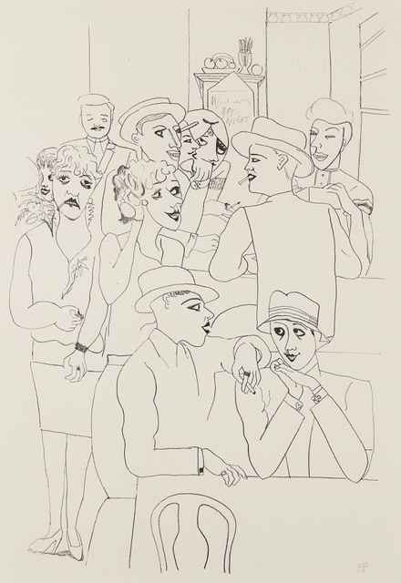 Edward Burra, 'Figures in a Bar', 1931, Print, Lithograph on wove, Roseberys