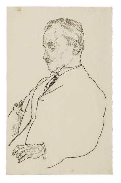 Egon Schiele, 'Portrait of Dr. Hugo Koller', 1918, Galerie St. Etienne